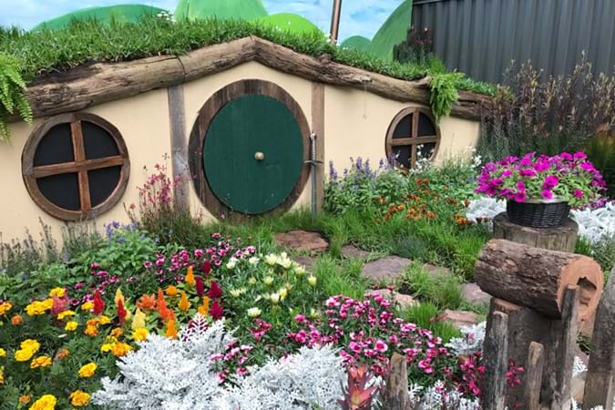 The incredibly cute Hobbit's Retreat by Scott McKenzie in the Achievable Gardens section