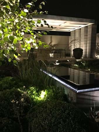 The Husqvana Garden at night by Charlie Albone