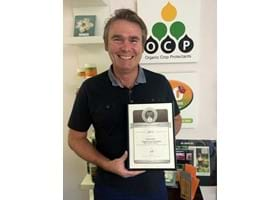 Silver Medal in Organic Leadership Award for OCP Managing Director Gary Leeson