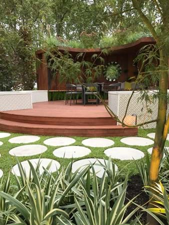 Circle Work by Waddell Landscapes complete with rooftop planting