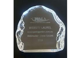 eco-organic garden wins 2016 Laurel Award for Best Website!