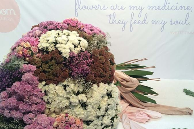 A Bronze Medal was awarded to the giant flower bouquet design by Bloom College Flower School