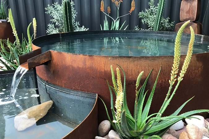 Fantastic water feature by Broadcroft Design