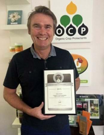 Gary Leeson 2015 Organic Leadership Award
