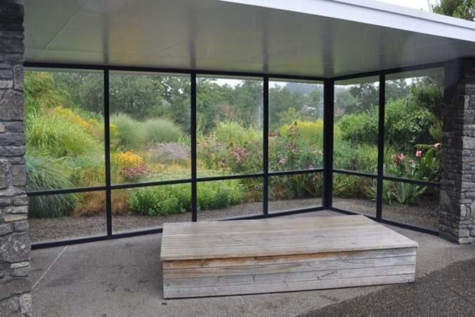 Lovely background planting in the Modernist Garden